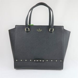 NWT Kate Spade Black Hadlee Laurel Way Jeweled Bag